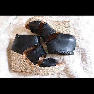 Corso como leather platform heeled sandals